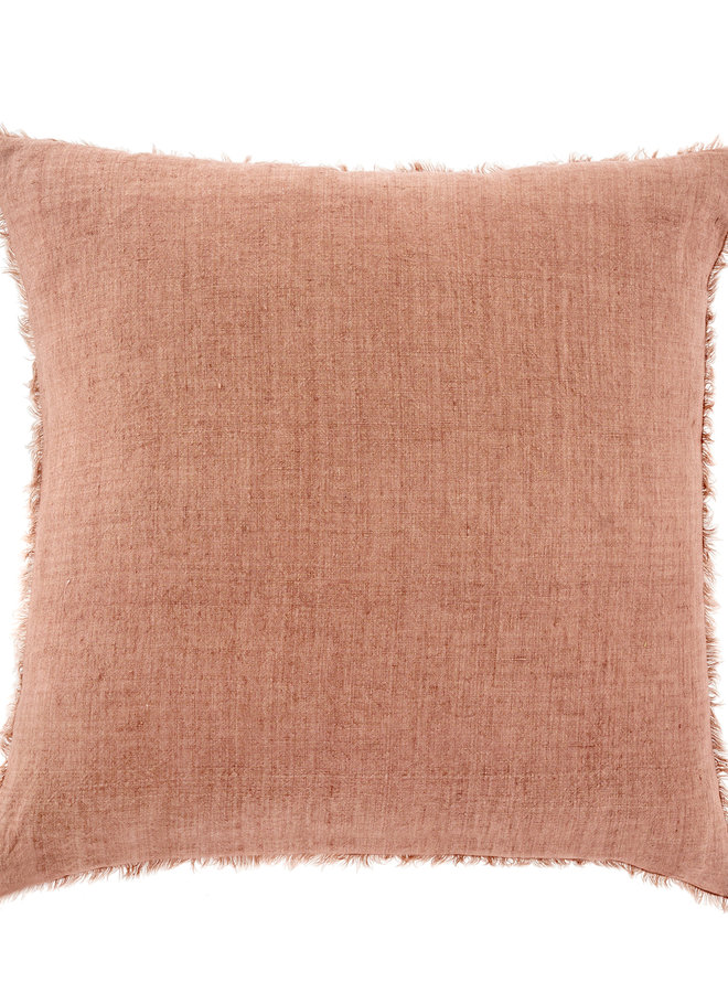 Lina Linen Pillow - Redwood