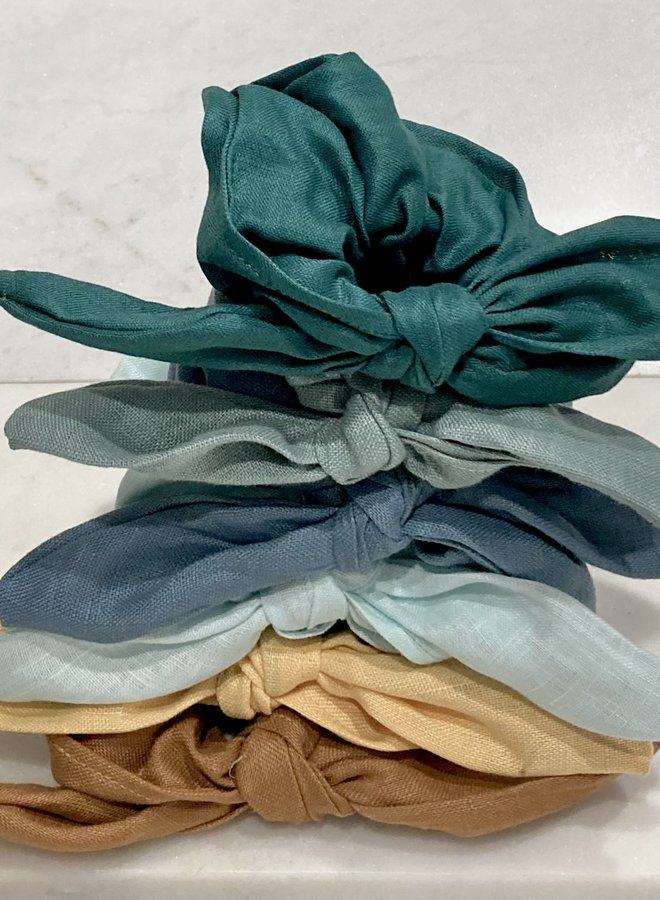 Linen Knotted Scrunchie