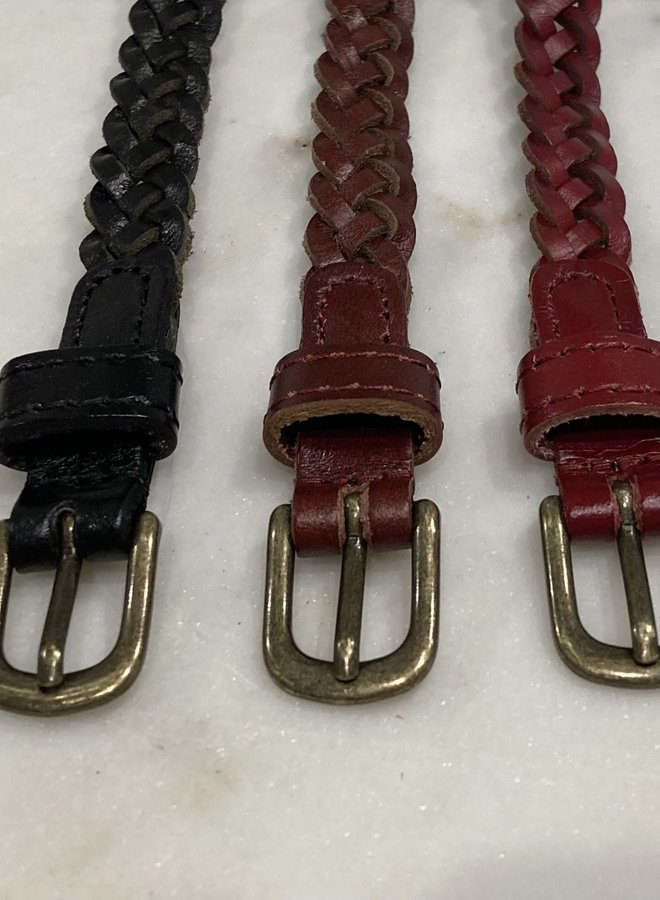 Silla Braided Leather Belt
