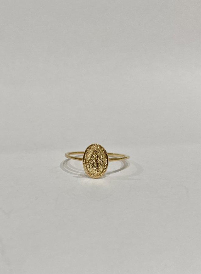 Virginia Medallion Ring - Gold