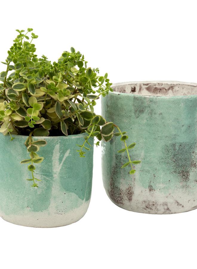 Palette Pot - Aqua