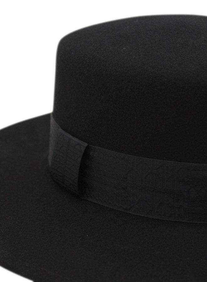 Gunsmoke//Black Ribbon Boater