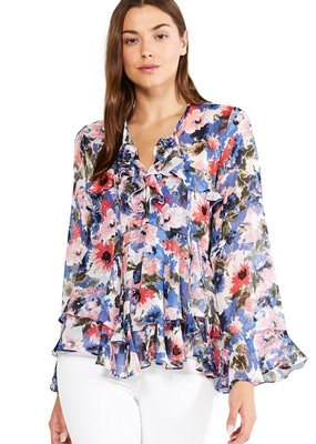 misa damaris ruffle blouse