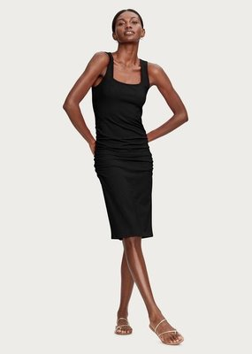michael stars sonya square neck shirred dress