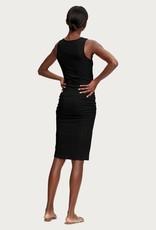 michael stars sonya square neck shirred dress