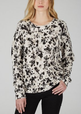 525 speck print sweater l/s