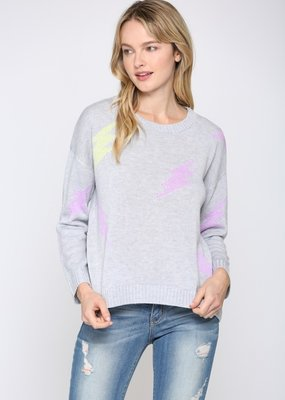 wildflower lightning bolt light knit sweater