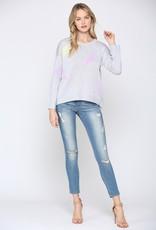 wildflower lightning bolt light knit sweater