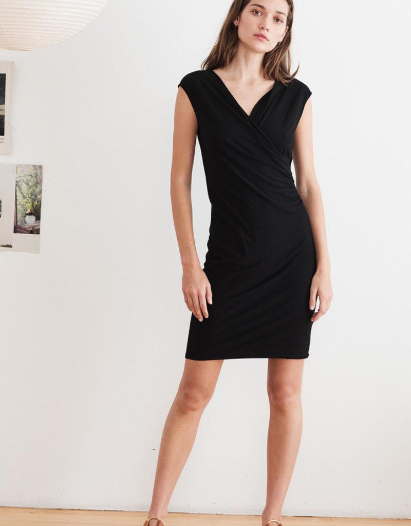 velvet sleeveless jersey dress