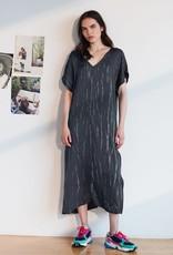 velvet valerie tie dye long dress side slit
