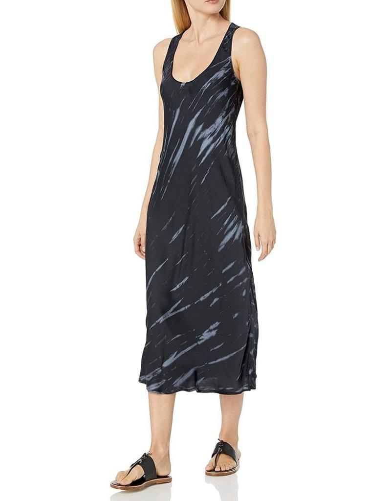 velvet tie dye sleeveless dress