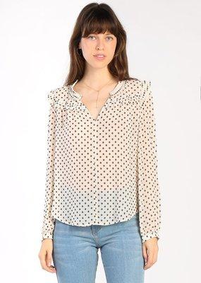 current air polka dot textured blouse