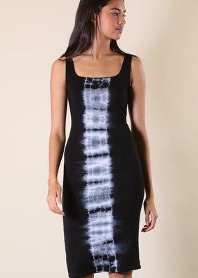 tank dress w/tie dye print