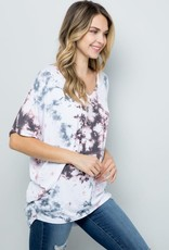 wildflower tie dye dolman s/s tee relaxed fit