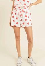 wildflower heart print shorts