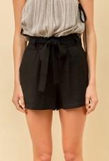 wildflower woven tie waist shorts