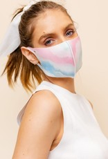 wildflower tie dye face mask antimicrobial