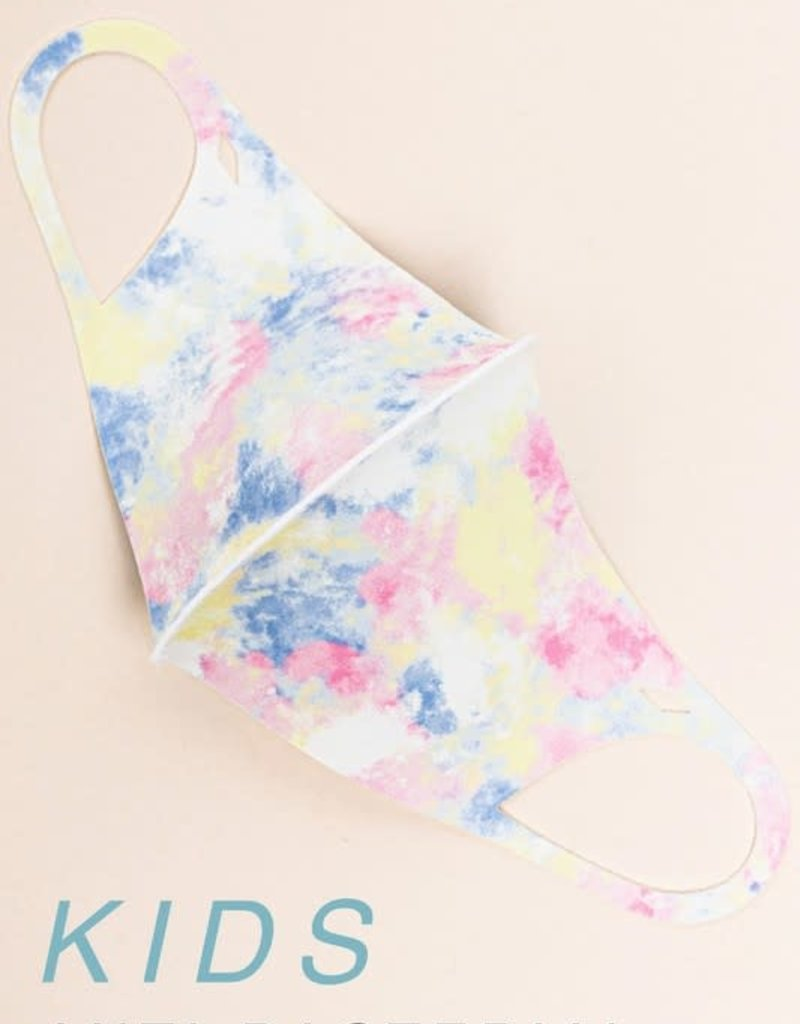 wildflower kids tie dye face mask antimicrobial