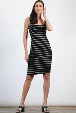 wildflower double layer stripe bodycon dress
