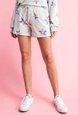 wildflower multi color stripe star print shorts