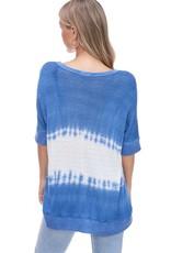 wildflower tie dye v neck knit top