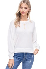 wildflower mini waffle l/s top light knit