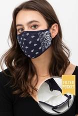 wildflower bandana print face mask