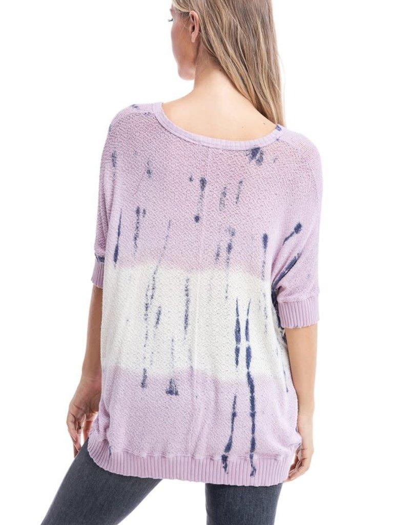 wildflower tie dye knit top