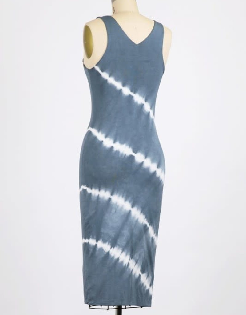 wildflower DOUBLE-LAYERED GARMENT TIE-DYED FITTED TANK DRESS