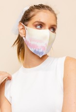 face mask diffused tie dye ADULT