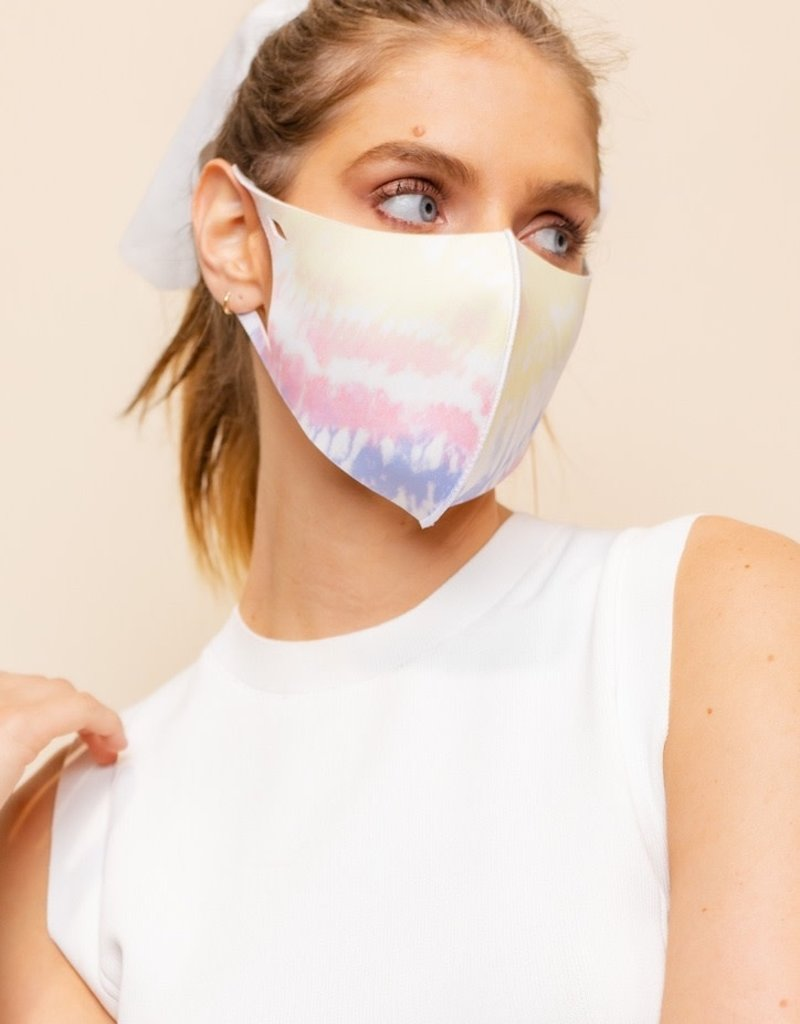 face mask diffused tie dye