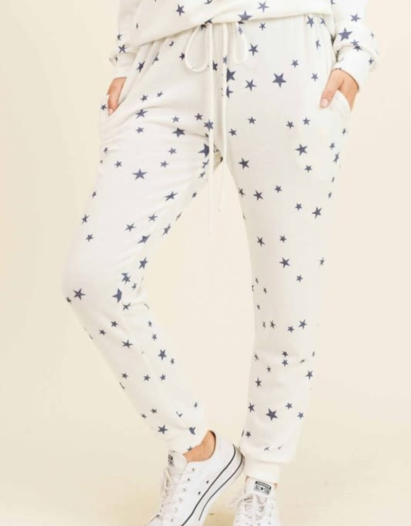 wildflower MICRO STAR VINTAGE FLEECE JOGGERS