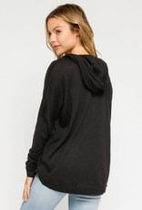 wildflower Dolman Lightweight Hoodie features drawstrings and a pocket