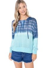 wildflower dip dye lightweight long sleeve knit Hoodie