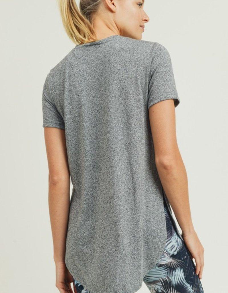 wildflower Short-Sleeve Tulip Athleisure Longline Shirt