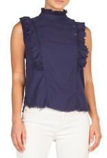 sleeveless top with ruffles