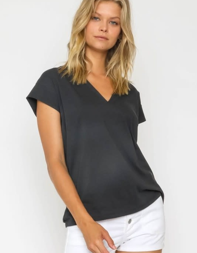 wildflower V Neck Tee short sleeves and a relaxed fit