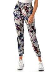 wildflower floral ruched bottom jogger