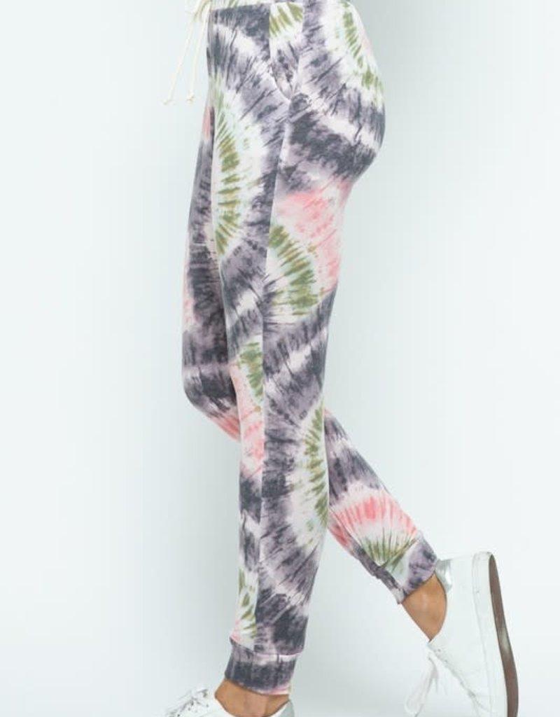 wildflower tie dye print jogger