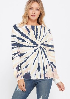 wildflower tie dye sweatshirt l/s