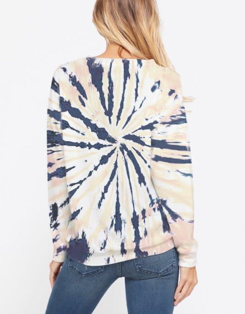 wildflower tie dye sweatshirt l/s