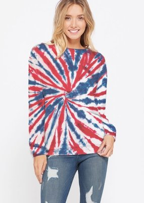 wildflower tie dye centre swirl sweatshirt