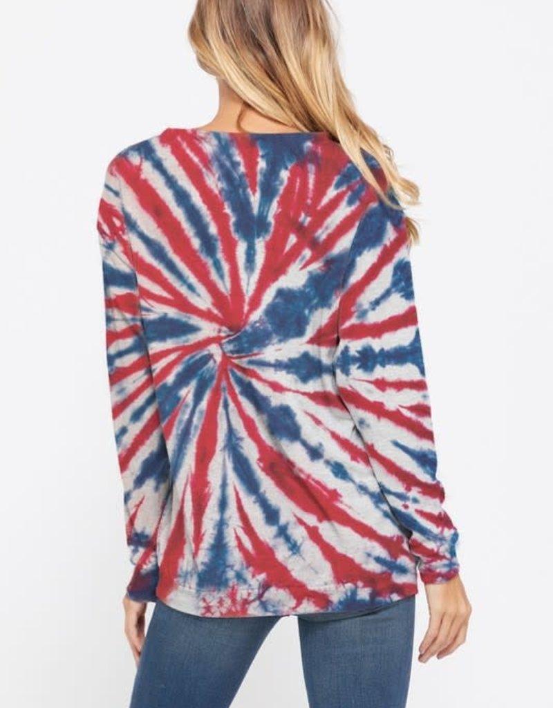 wildflower tie dye centre swirl sweatshirt