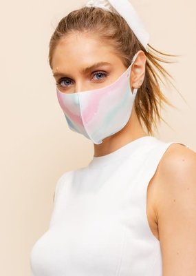 multi tie dye face mask TEEN size
