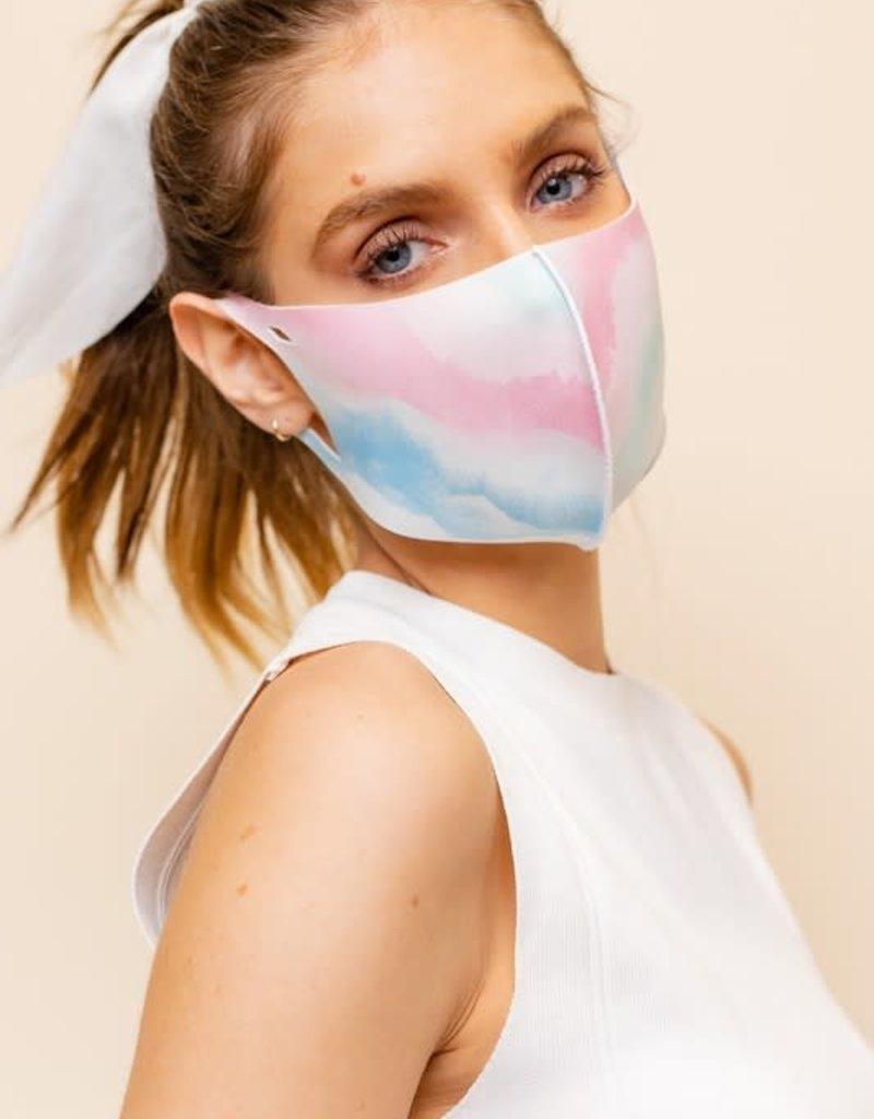 multi tie dye face mask TEEN size