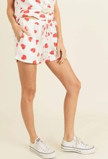 wildflower heart print shorts