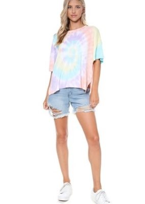 wildflower soft touch tie dye tee shirt