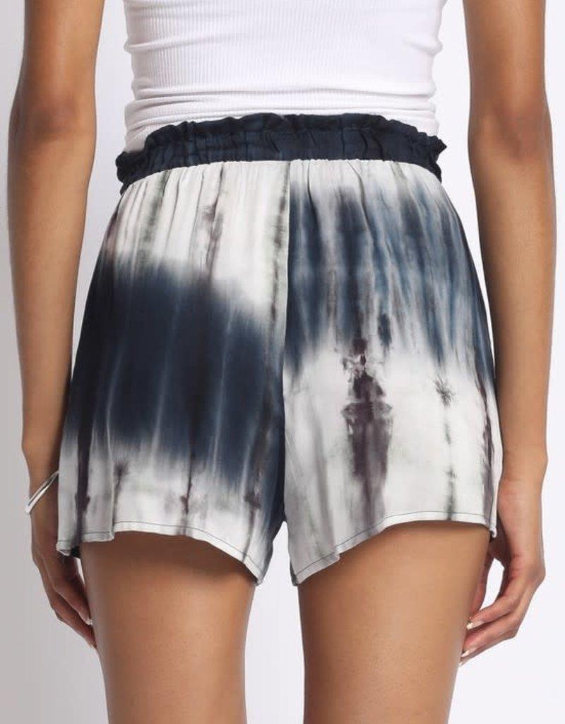 wildflower Tie dye rayon shorts
