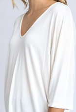 wildflower v-neck half sleeve relaxed fit top