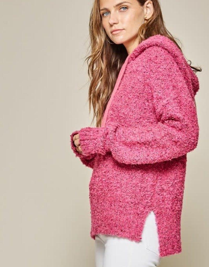 stardust popcorn knit hoodie